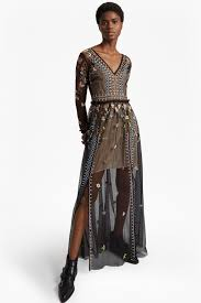 maxi dresses with sleeves bijou stitch sleeved v neck maxi dress collections