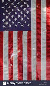 Big American Flags American Flag Hanging In Shop Window Stock Photo Royalty Free