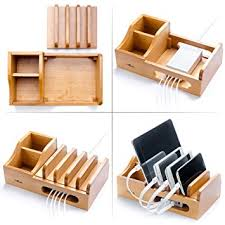 real wood real wood multi device organizer for using with