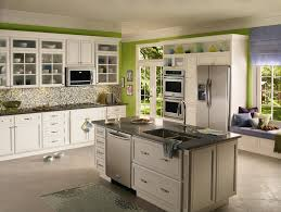 10x10 Kitchen Designs With Island Green Kitchen Design Green Kitchen Design And Galley Kitchen