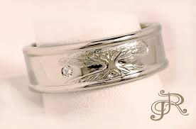 san diego wedding bands men s tree engraving wedding band rosestone jewelry