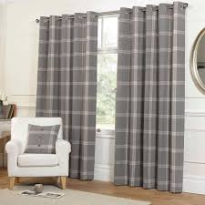 style of plaid curtains for living room create awesome living