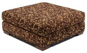 brown leather square ottoman square upholstered ottoman coffee table with wooden legs and brown
