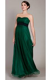 emerald maternity gown with black lace sash maternity wedding