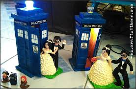 tardis wedding cake topper craft with cee doctor who inspired wedding cake toppers