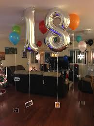 surprise for 18 year old birthday boy he loved it 18 balloons