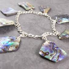 handmade charm bracelet images Paua shell charm bracelet sterling silver making a statement jpg