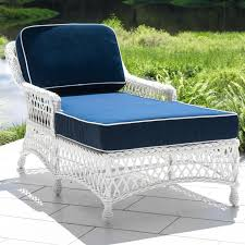 Patio Chaise Lounges Everglades White Resin Wicker Patio Chaise Lounge By Lakeview