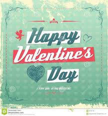 retro valentines retro vintage s day greeting card design royalty free