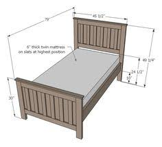 Free Wooden Twin Bed Plans by Free Diy Furniture Plans To Build A Land Of Nod Oak Park