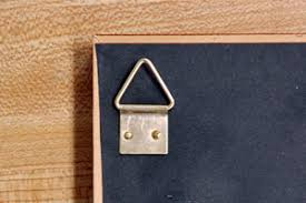 how to hang a picture frame brass triangle hangers grignonsart com