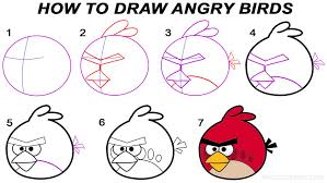 draw angry birds step step pictures cool2bkids