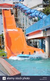 6 Flags Water Park Water Slide At Hurricane Harbor Waterpark Six Flags Over Texas