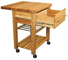 Drop Leaf Kitchen Cart by Butcher Block Kitchen Workcenter With Wine Rack
