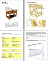 Log Bunk Bed Plans Bunk Bed Plans Children Adults Rustic