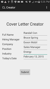 cover letter creator android apps on google play