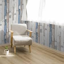 muriva painted wood beam stripe pattern wallpaper faux effect l10401