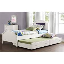 White Twin Trundle Bedroom Set Better Homes And Gardens Lillian Trundle White Walmart Com