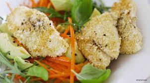 que cuisiner avec des carottes recettes poisson en croûte de sésame avec salade de carottes et avocat