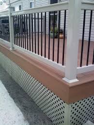 vinyl railing with black balusters decks u0026 fencing contractor talk