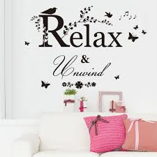 u0026 black butterfly bird flower vine relax quotes wall sticker kids