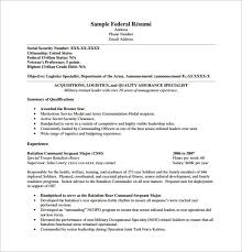 exles of government resumes federal resumes cover letter