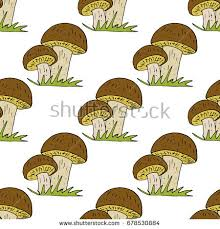 mushrooms pattern stock images royalty free images vectors