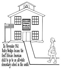 ruby bridges coloring page kid projects pinterest black