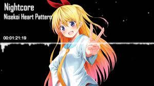 heart pattern lyrics nisekoi nisekoi ed full heart pattern nightcore chitoge youtube