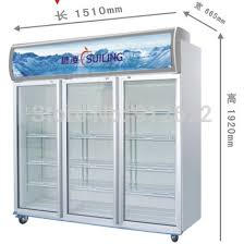 3 Door Display Cabinet 1000l Capacity 3 Glass Door Freezer Big Fridge Freezer