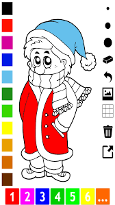 winter coloring book kids learn draw color apps
