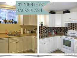 Kitchen   Easy DIY Kitchen Backsplash With Peel And Stick Tile - Diy kitchen backsplash tile
