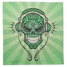 sugar skull with headphones tattoo design photos pictures and