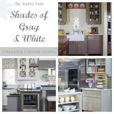 kitchen choosing cabinet colors gray and white most popular 2017
