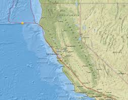 Map Of The Coast Of California Powerful 6 8 Magnitude Quake Strikes Off The Coast Of Northern