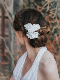 flower hair accessories small flower bridal hair pin set kendra light ivory bridal