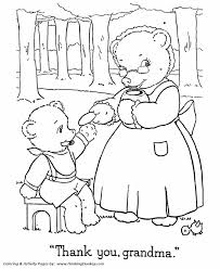 teddy bear coloring pages grandma baby teddy bear coloring