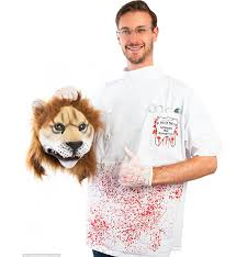 lion halloween costume nope no way people are gonna be pissed about this cecil the lion