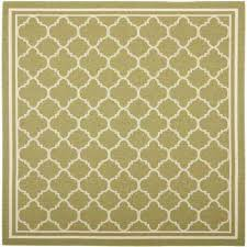 Square Outdoor Rug Green Border Square Outdoor Rugs Rugs The Home Depot