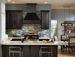 alluring best paint color for kitchen with dark cabinets cute