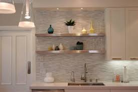 kitchen floating shelves under kitchen cabinets beverage serving
