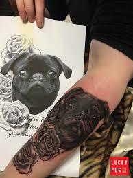 forearm pug tattoo by bodo buntmacher www luckypug com pug