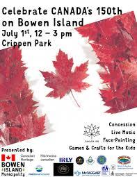 celebrate canada day on bowen bowen island