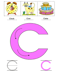 letter c printable coloring worksheet