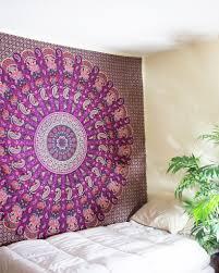 Bedroom Ideas With Tapestry Orange U0026 Navy Blue Mandala Tapestry 24 99 Www Thebohemianshop