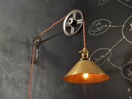 Industrial Wall Sconce Lighting Industrial Lighting Vintage Pulley Lamp Steampunk Sconce Light