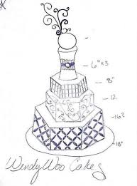 design a cake 45 best cake draft drawing images on sketches wedding