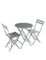 cortado round table u0026 2 chairs grey m u0026s