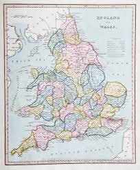 Maps Of England by Map Of England 1825