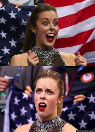 ashley wagner is excited then disappointed meme generator